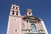 QUERETARO : Parroquia de Santa María de la Asunción, Tequisquiapan, Querétaro, Mxico Plaza Miguel Hidalgo Foto de archivo