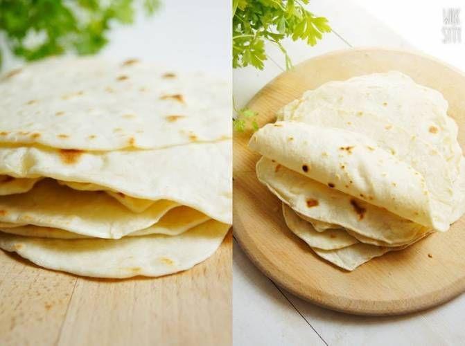 Domowe tortille pszenne (najprostszy przepis).