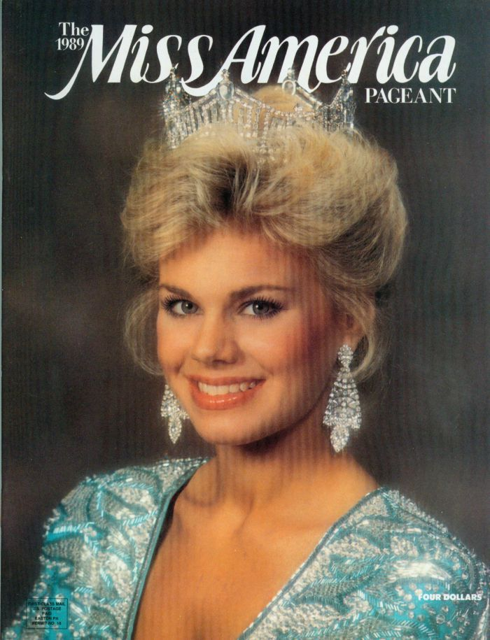 The cover of the 1990 Miss America Program book, featuring Gretchen Carlson!