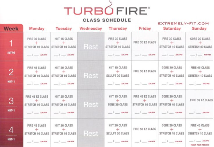 Turbo Fire Class Schedule | Turbo Fire Reviews: Calendar and Fitness Guide