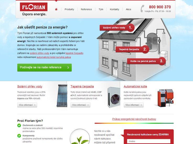 Webové řešení pro firmu eflorián, která Vám dokáže ušetřit peníze za energie.