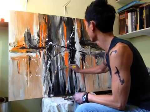 "Abstract Acrylic Painting (Work in Progress) ""A Moment's Distortion"" - P..."