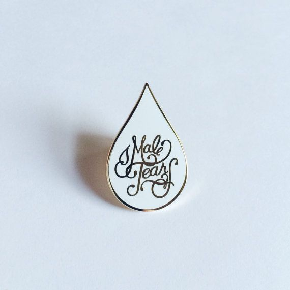 Treat male tears like the gleaming badge of honor they are, with this gold & white enamel pin — the result of a collaboration between eythink & Rebecca