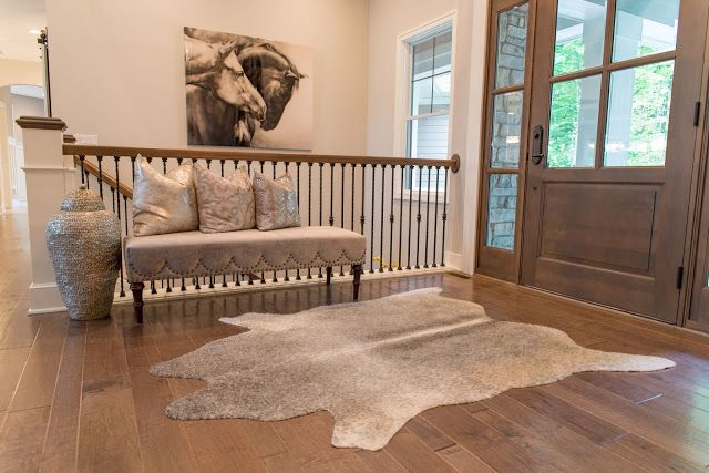 Real Fit Housewife: Welcome to my Home: Our Little Slice of Heaven Front Entry, cowhide, Way Horses