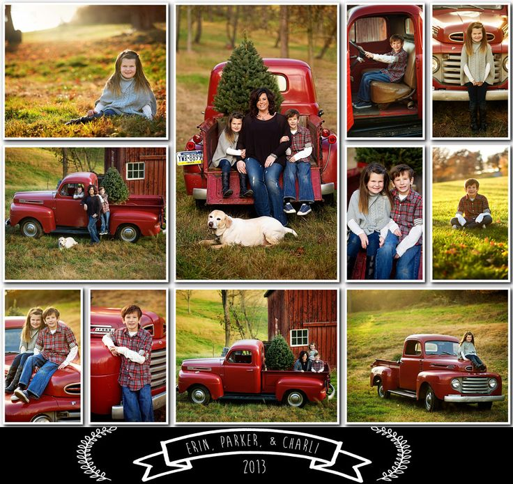 A Christmas session by Washington PA photographer Pam Nafziger, featuring great clients & their beloved vintage truck in their annual photo session.