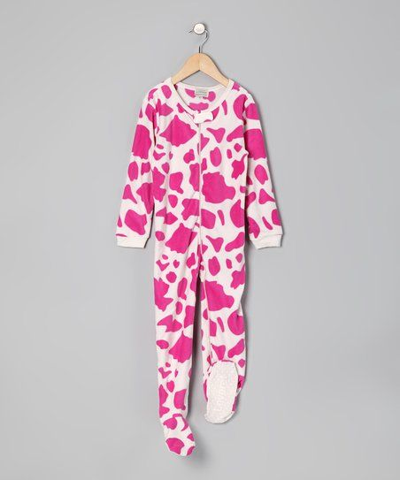 Leveret Pink Cow Footie - Infant & Toddler | zulily