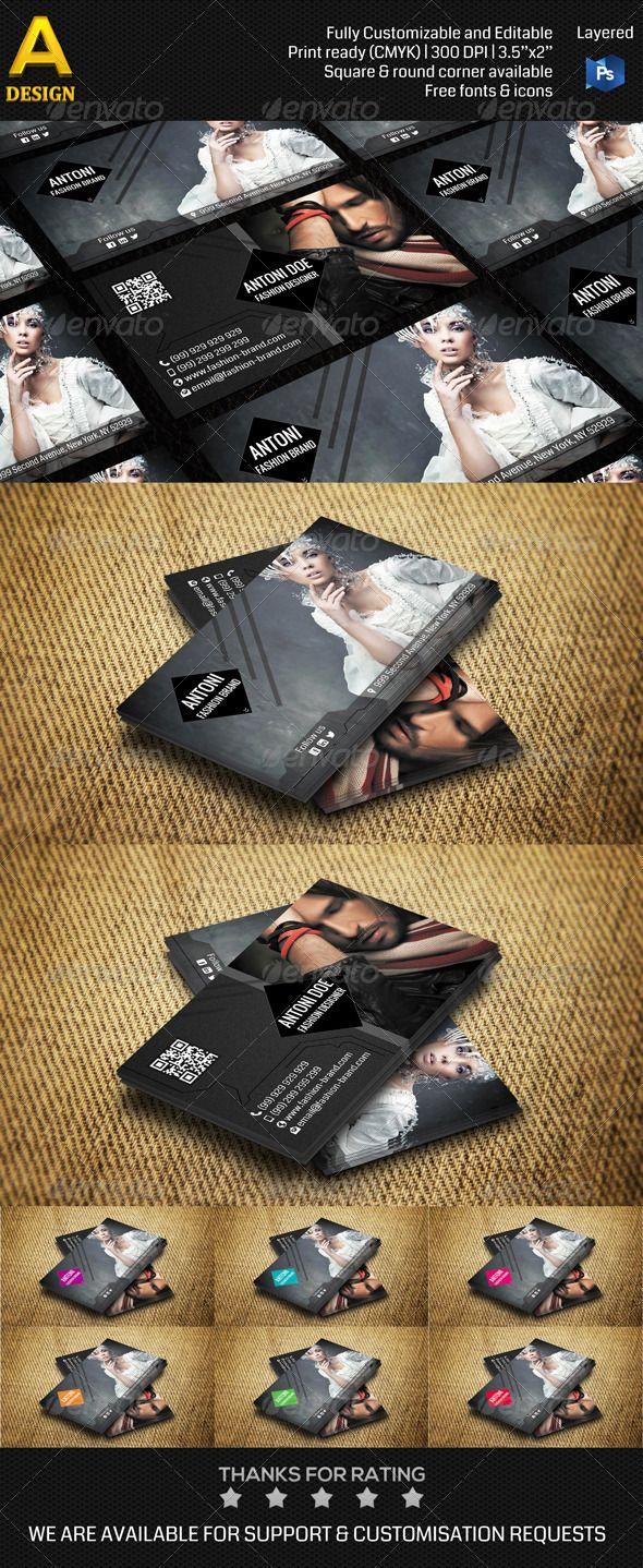 Fashion Brand Business Card AN0110