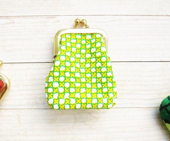 Mini borsa bacio moneta bloccare piccolo portafoglio clip di telaio cambiamento borsa rosa giallo verde Marimekko bambini regalo cornice d'oro damigella d'onore stoccaggio Stuffer