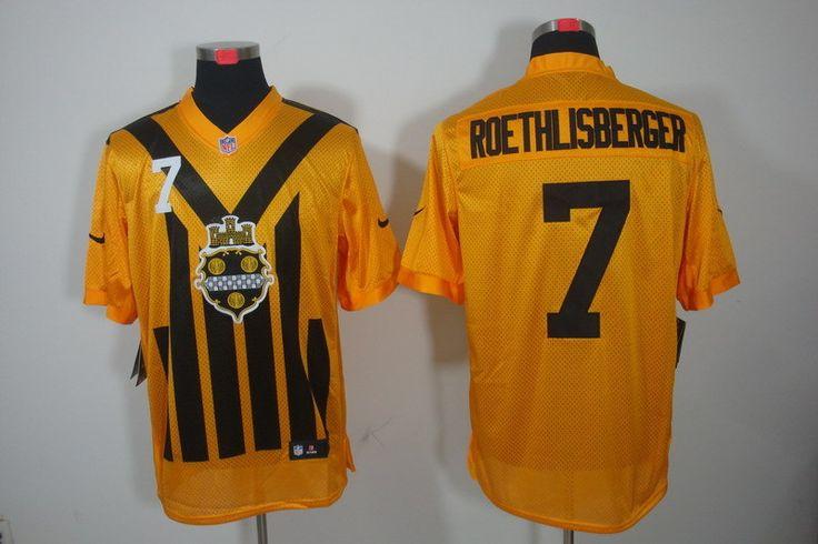 ... Steelers 7 Ben Roethlisberger 1933 Yellow Throwback Jersey NFL Pittsburgh  Steelers Elite Jerseys Pinterest Nike Pittsburgh Steelers 75 Joe Greene ... 5ba09435d