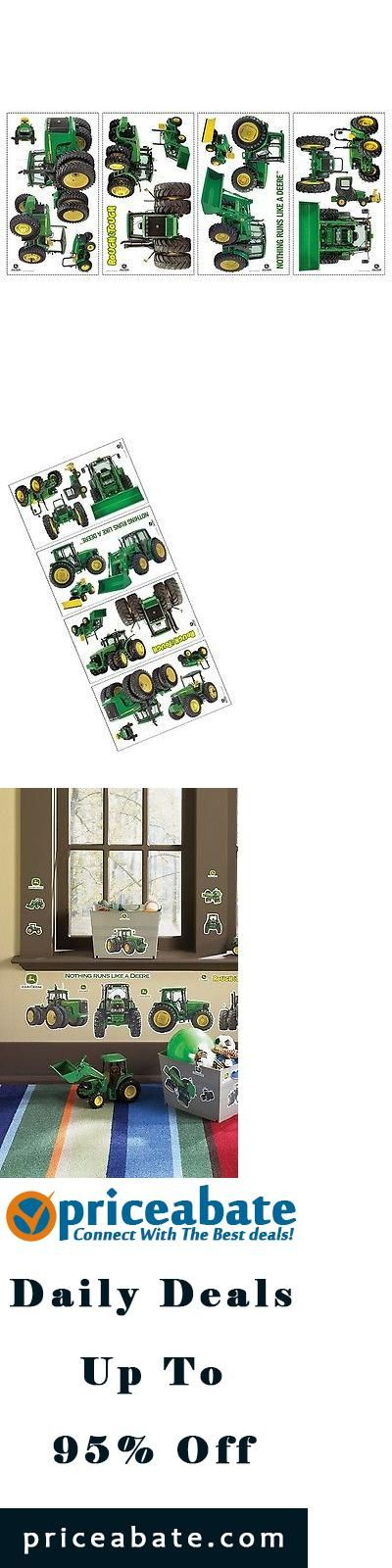 #priceabatedeals JOHN DEERE Big Removable Wall Decals FARM TRACTOR BOYS Room Decor Stickers LOGO - Buy This Item Now For Only: $21.9