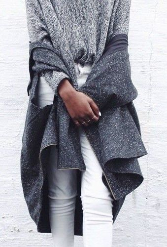 #fall #fashion / layers of gray