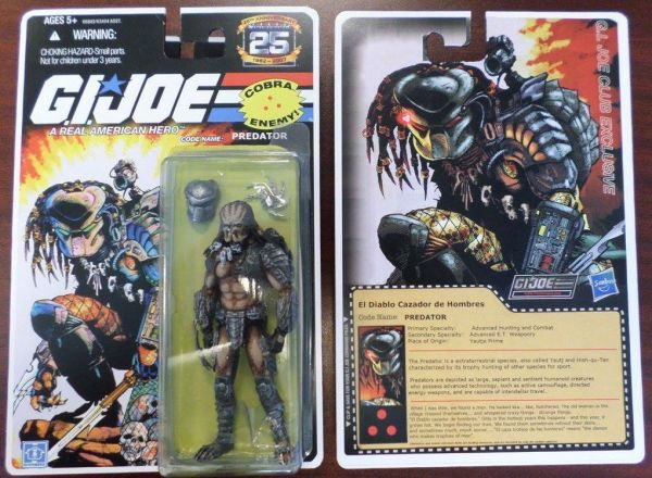 Building Toys From The 90s : Predator on g i joe card custom action figure