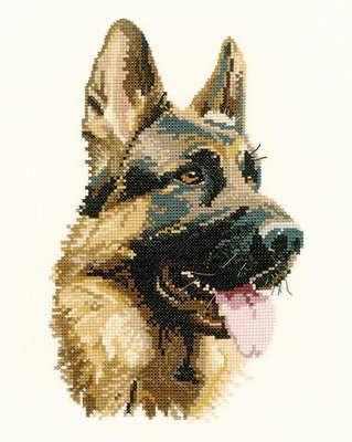 Cash - German Shepherd/Alsation Animal Portraits Cross Stitch - Heritage Crafts