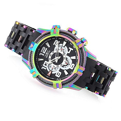 648-983 - Invicta Men's 50mm Bolt Sea Spider Hybrid Tri Cable Quartz Chronograph Bracelet Watch