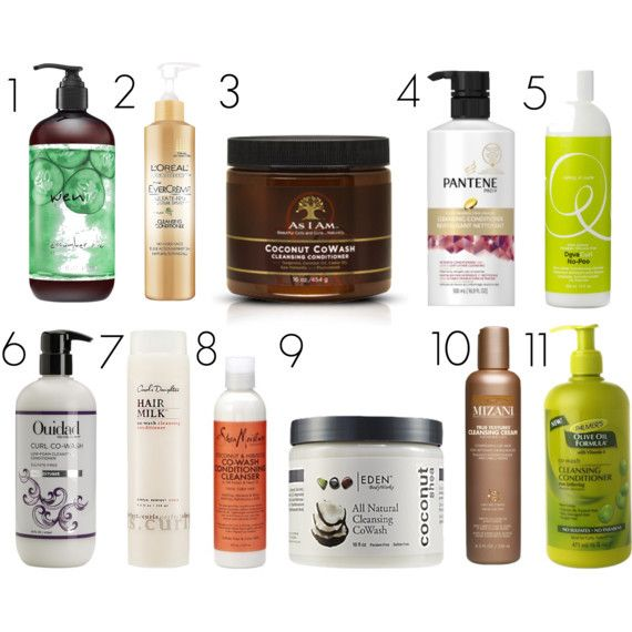cleansing conditioners - I use the Loreal one right now, and I really like it. Just some ideas on others to try...