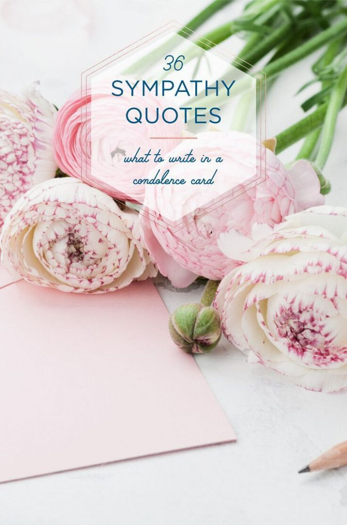 What Do You Write On A Sympathy Flower Card Condolence Card