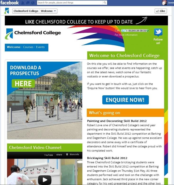 Chelmsford Colleges Facebook Website