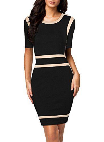 Miusol Women's Scoop Neck Optical Illusion Enterprise Bodycon Gown