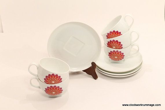Melitta DinnerwareMelitta Cup and Saucer Cup by ClockworkRummage, $5.00