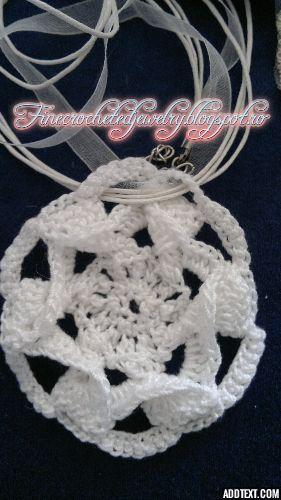 Crochet lace necklace http://www.finecrochetedjewelry.blogspot.ro/