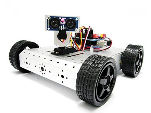 #household This 4WD #Mobile Robot Kit with Distance System adopt the RB URF02 Ultrasonic Sensor's are used exclusively for 5V power input. With the power supply ...