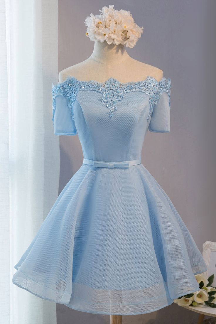 Real Picture,Prom Dresses,Short Prom Dress,Bridesmaid Dresses,Tulle,Lace,Evening…