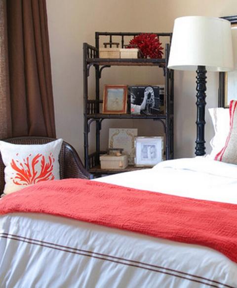 love this bedroom style & colours  Inspiration Article No. 42 September 2012 https://www.livingexclusive.com.au/inspiration/to-the-sea-coastal-decor/#  beach-coastal-10-maritime-coral-colour-palette-jessica-bennett-interiors.
