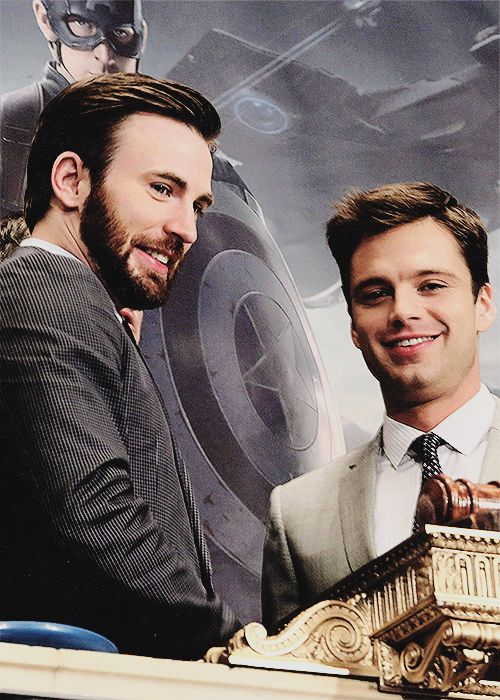 Chris Evans and Sebastian Stan - Captain America: The Winter Soldier