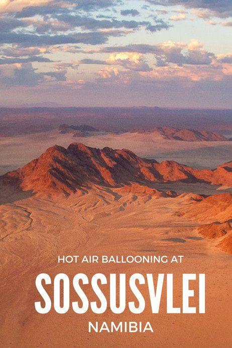 Hot air ballooning at Sossusvlei, Namibia, Southern Africa