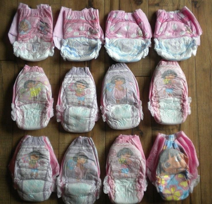 Vintage Dora Easy Ups Sz 4 Huggies Minnie Mouse Cinderella Pull Ups Diapers 2-3T #Pampers