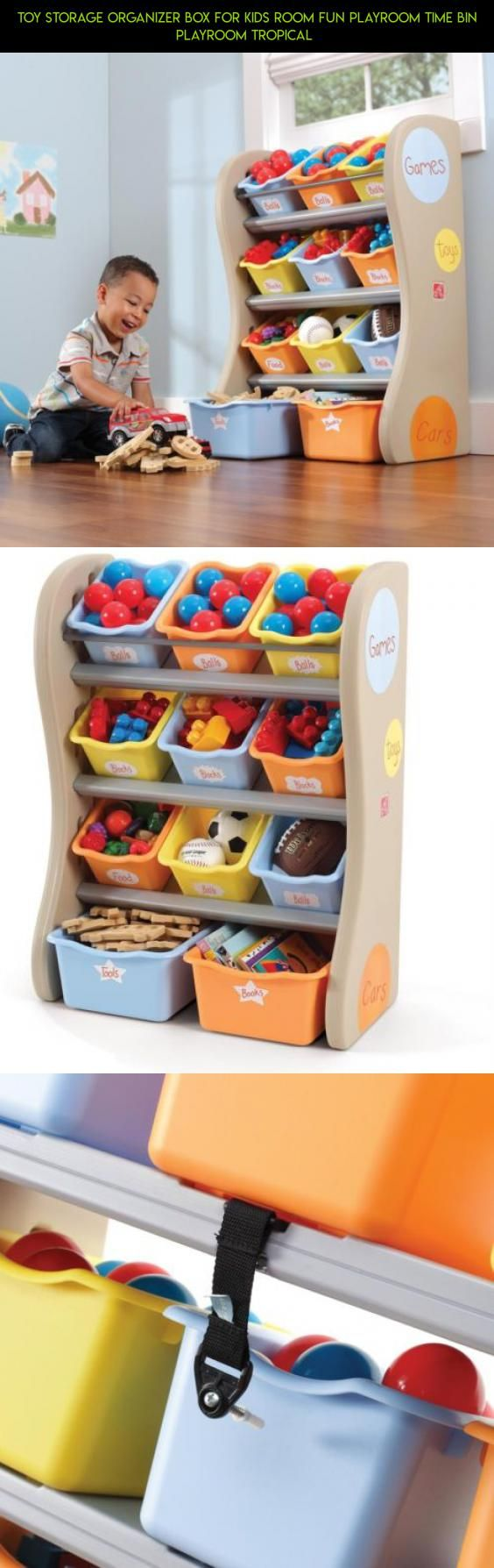 Toy Storage Organizer Box for Kids Room Fun Playroom Time Bin Playroom Tropical  #plans #fpv #technology #parts #drone #shopping #kit #storage #products #tech #camera #racing #for #gadgets #toys