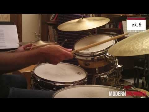 Jazz Drum Fill using a Paradiddle-diddle - Online Jazz Drum Lesson with John X - YouTube