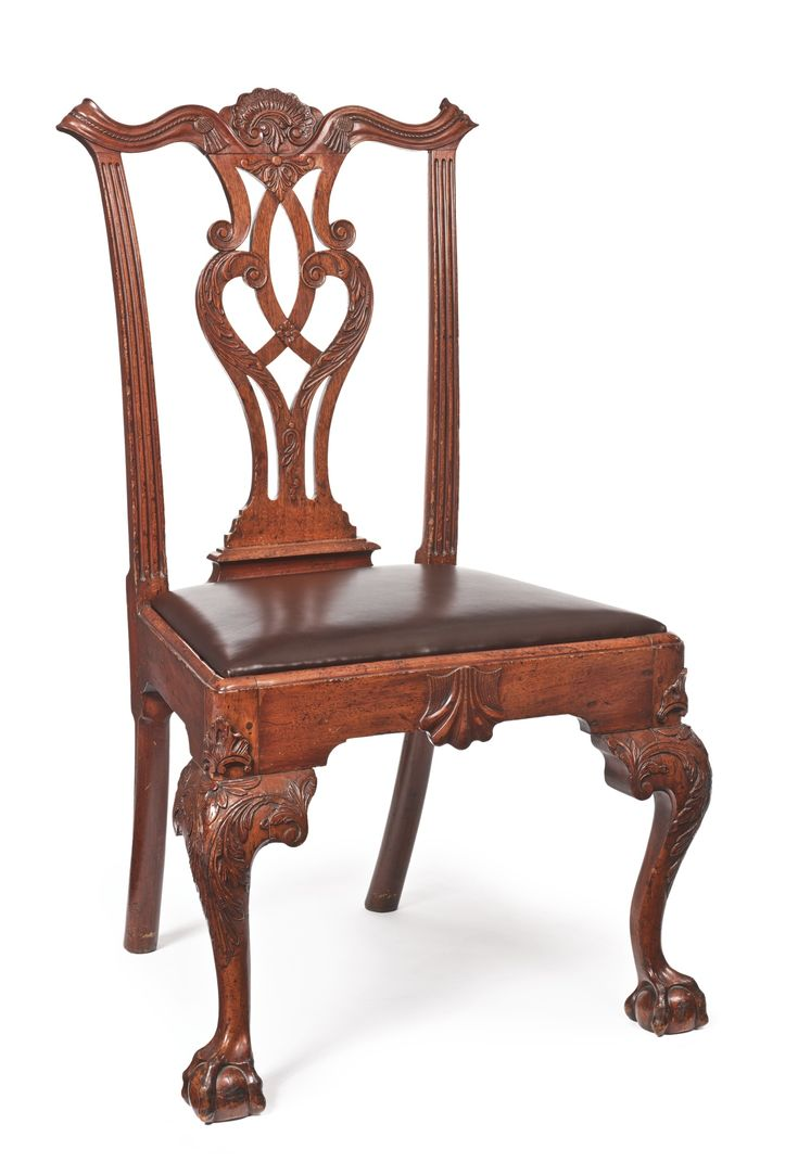 The Stokes Family Very Fine and Rare Chippendale Carved Mahogany Side Chair, Philadelphia, Pennsylvania, circa 1765 -  The chair is marked III. Height 39 3/4 in.