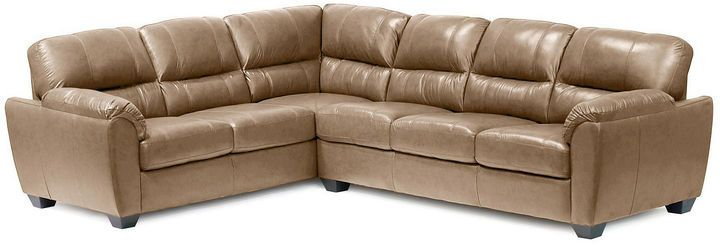 Asstd National Brand Leather Possibilities Pad-Arm 2pc Right- Arm Corner Sofa Sectional