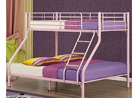 Birlea Nexus Triple Sleeper Bunk Bed in Pink The Birlea Nexus triple sleeper is a fantastic bunk bed that will look great in any bedroom. This bunk bed offers a single bed on top and a double bed on the bottom. It has a mesh base and a fixed lad http://www.comparestoreprices.co.uk/bunk-beds/birlea-nexus-triple-sleeper-bunk-bed-in-pink.asp