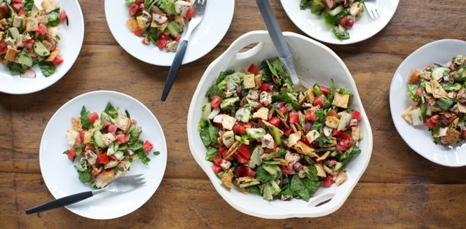 Chicken Fattoush Salad: as we are working on eating healthier, especially for my husband's liver condition, I think this recipe will be wonderful with the choice ingredients and multiple spices. If you try it please pin it back to me, Thanks!!