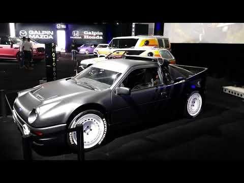 Hoonigan Racing Ken Block 1986 Ford Rs200 Galpin Hall Of Customs 2018 La Auto Show Youtube La Auto Show Ken Block Racing