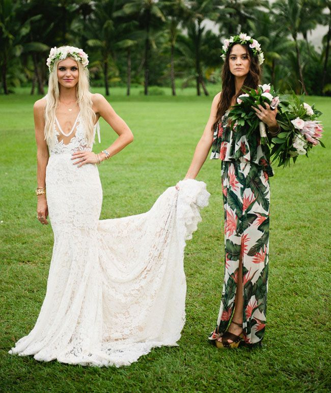 Bohemian  70s Inspired Kauai Wedding  Cologne   SamBest 25  Hawaiian themed dress ideas on Pinterest   Hawaiian party  . Hawaii Wedding Dress. Home Design Ideas