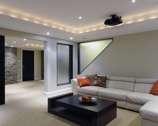 1000 images about finished basements on pinterest - Idee amenagement sous sol ...