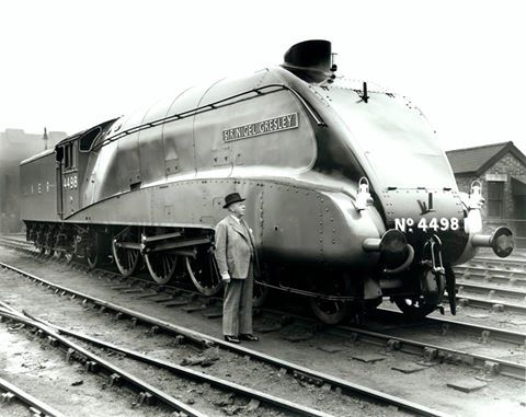 Sir Nigel Gresley with his A4