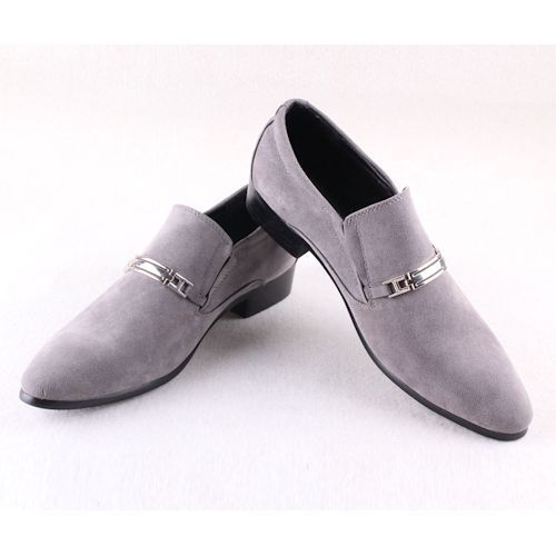 Gray Suede Retro Vintage Wedding Prom Dress Loafers Shoes for Men  SKU-1100052 256b2022b578