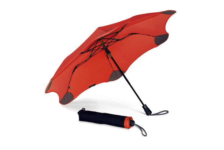 It's the strongest umbrella around, can be popped open with one hand, and is small enough to fit in your handbag. Get your Red BLUNT XS_Metro umbrella at www.GumbootBoutique.com