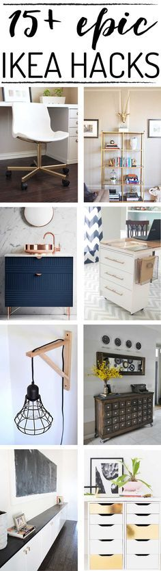I love Ikea hacks and Ikea ideas that transform basic, inexpensive pieces from basic to fabulous. These Ikea hacks are the BEST I've found…