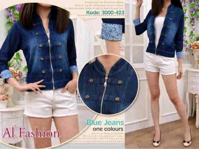 Military ARMY Jacket Jeans seri@66 rb (no inner, mat jeans washed ori) fit l redy 6 harian