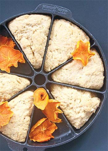 Persimmon scones. Sounds interesting. I have never met a scone I didn't like.