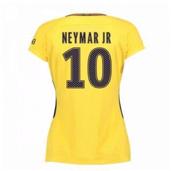 PSG Neymar Jr 10 kläder Kvinnor 17-18 Bortatröja Kortärmad  #Billiga #fotbollströjor