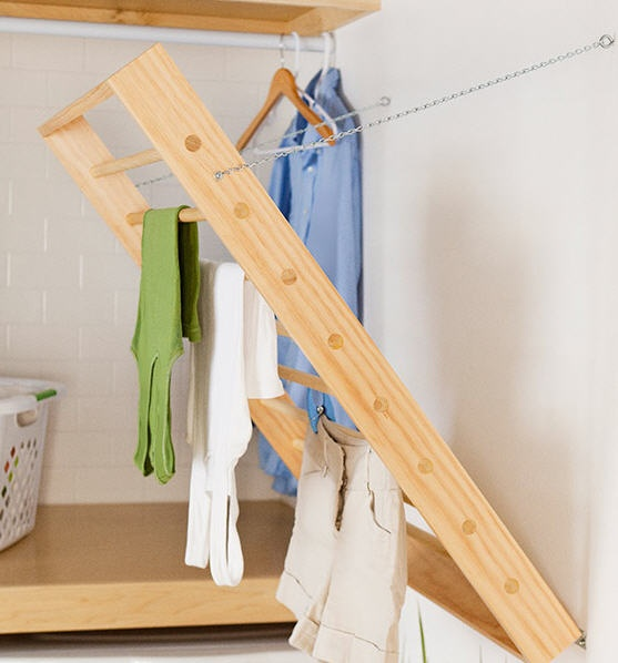 Yay! saw this on the block so good to have plans now! Cool DIY drying rack - Lowes Creative Ideas