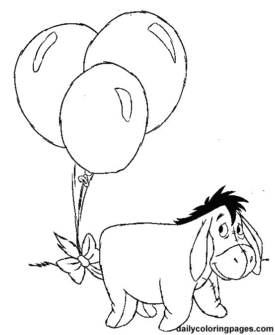 winnie the pooh birthday coloring pages 01 for the coloring station