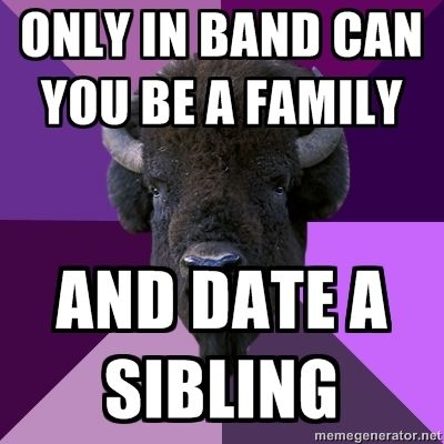 So weird. Yet so, so true. Marching Band Problems