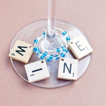 Marcadores para copas de vino #vino #wine #glass #copasdevino #diy #decoracion